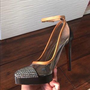 Lanvin rhinestone ankle strap pump